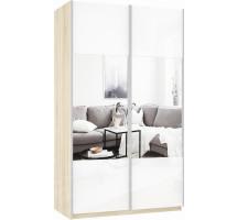 Шкаф-купе Прайм 2-х дверный (стекло/зеркало)