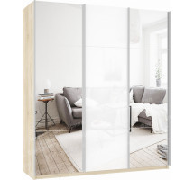 Шкаф-купе Прайм 3-х дверный (зеркало/стекло)