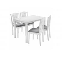 Mali (стол и 4 стула) white / grey